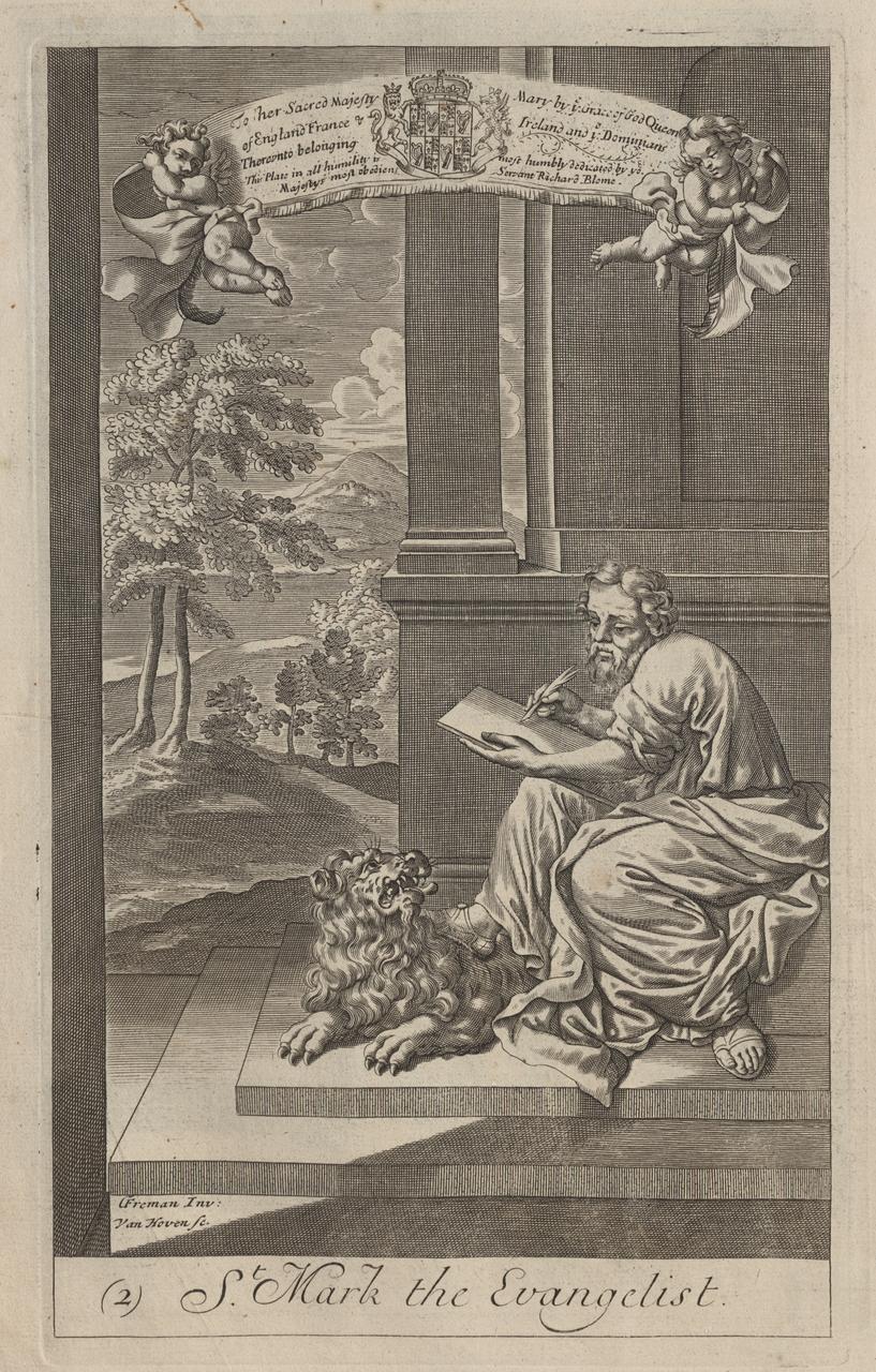 A: St. Mathew the Evangelist B: St. Mark the Evangelist
